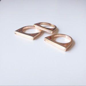 Kendra Scott rose Gold Ring Set